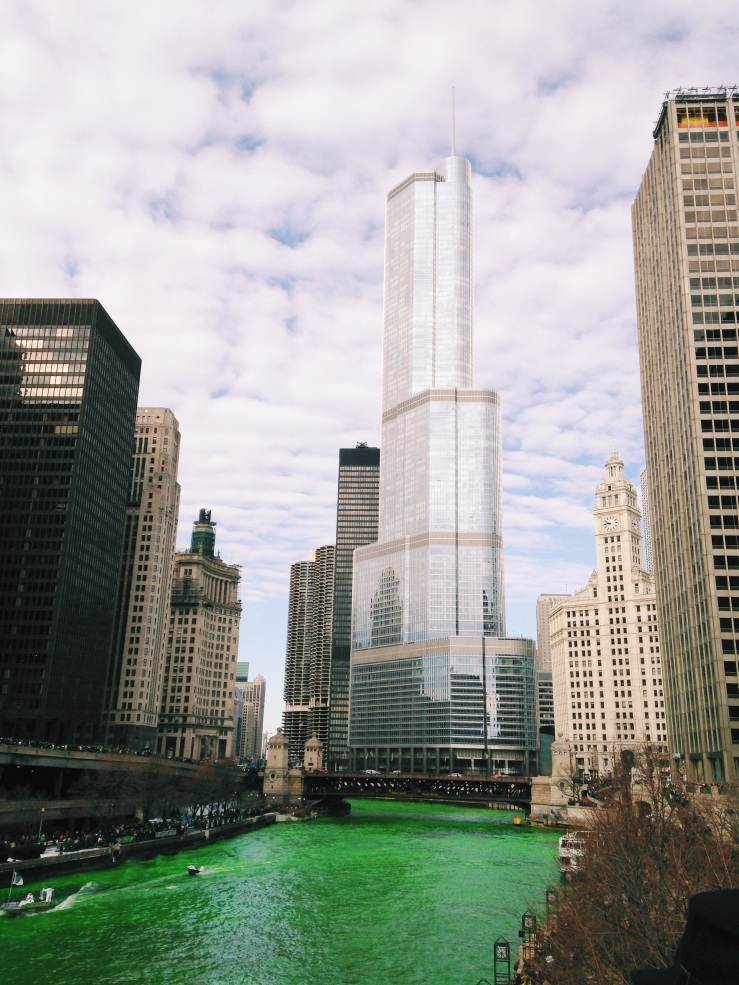 Chicago St. Patrick's Day - Green Dye and all